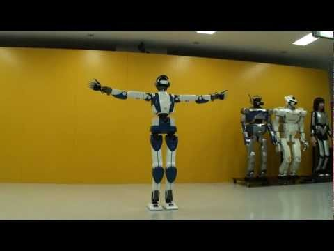 [HD] HRP-4 Humanoid Robot Walking Like A Real Human!!!
