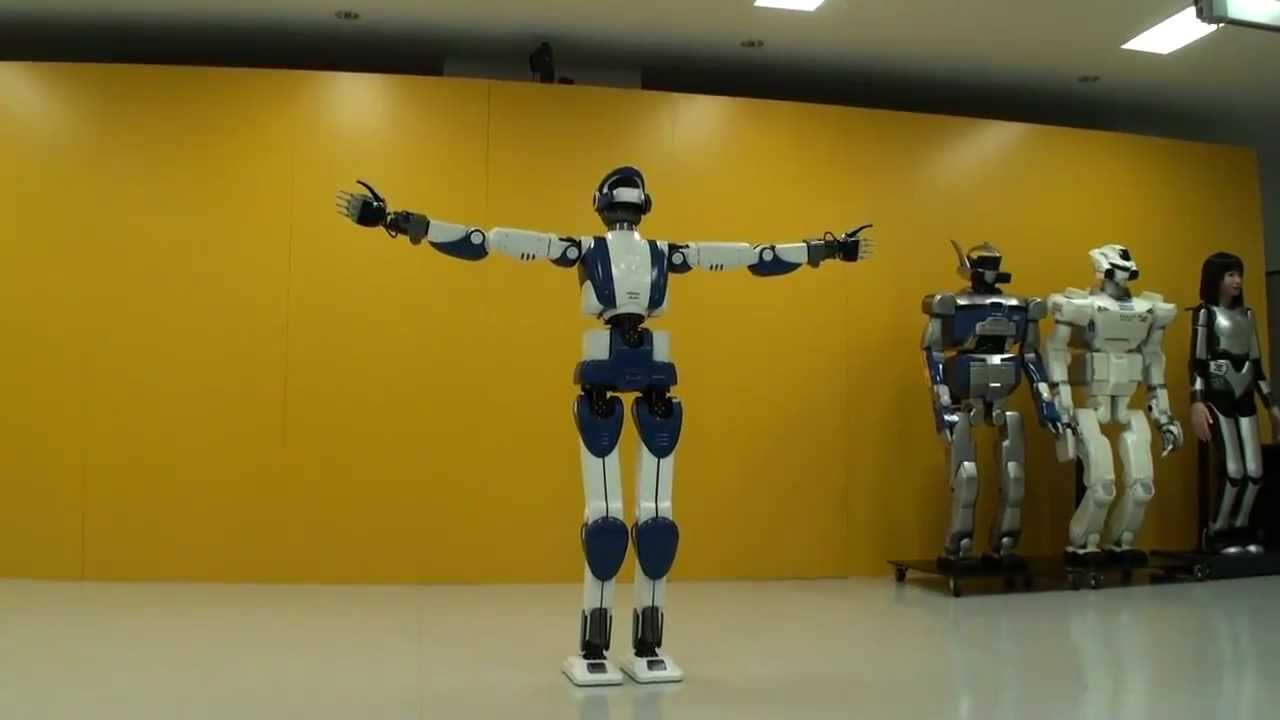 Hd Hrp-4 Humanoid Robot Walking Like A Real Human -3283