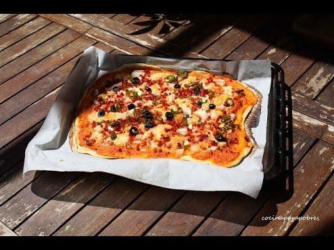 que ingredientes lleva la masa de pizza sin levadura