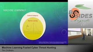 BSidesAugusta 2017 - Track1: Machine Learning Fueled Cyber Threat Hunting by Tim Crothers
