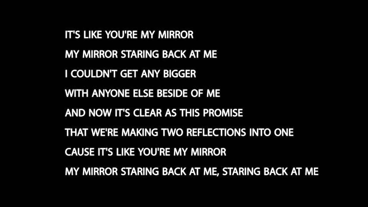 Justin timberlake mirrors lyrics youtube for Mirror mirror lyrics