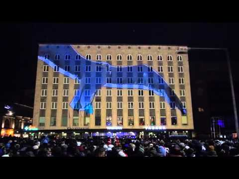 New Year's Eve videomapping Tallinn Freedom Square