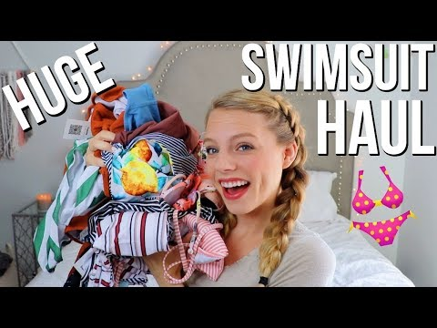 Huge Swimsuit Haul! Cutest Bathing Suits For Summer 2018