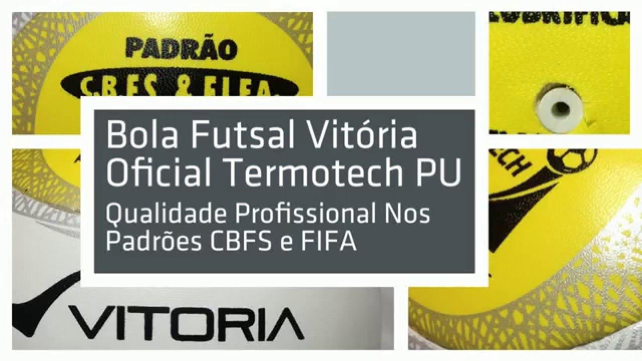 bde8d1119b Bola de Futsal Oficial Vitoria Termotec PU 6 Gomos - Canoas - Porto Alegre  - São Paulo