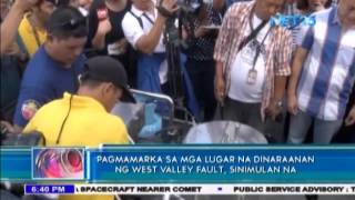 Taguig identifies areas on West Valley Fault
