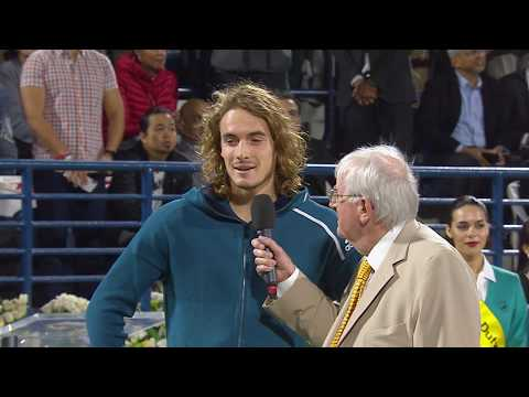 Speeches: Roger Federer, Stefanos Tsitsipas Accept 2019 Dubai Trophies