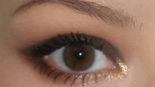 Вечерний, корректирующий нависшее веко, макияж глаз