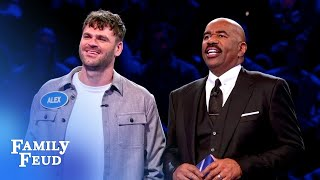 The Chainsmokers catch fire in Fast Money! | Celebrity Family Feud