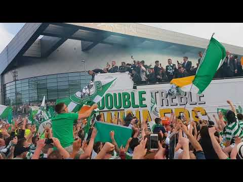 Celtic Bus Parade Scottish Cup Final