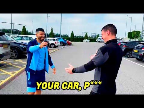 La ocurrente frase del Kun Agüero cuando regaló su camioneta al utilero