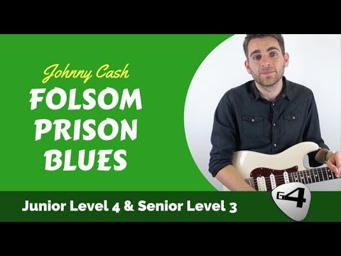 Folsom Prison Blues by Johnny Cash Guitar Lesson with TAB & Chord Boxes