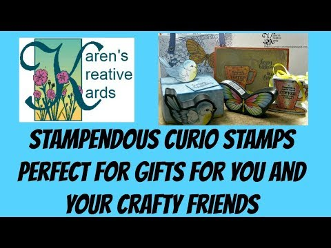 Stampendous Curio Stamps Perfect For Gifts for You and Your Crafty Friends