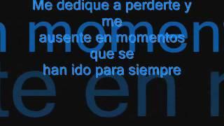 Alejandro Fernandez me dedique a perderte (Letra)