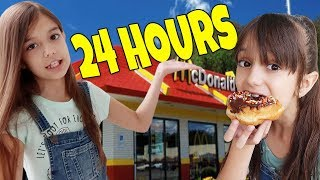 We only ate FAST FOOD for 24 HOURS Challenge!