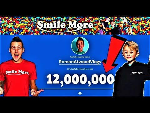 ROMAN ATWOOD LIVE SUBSCRIBER COUNT #RIPZEUS #12Mill4Zeus #Sm