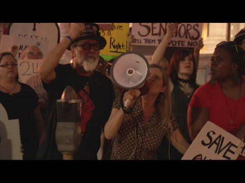Healthcare bill protest