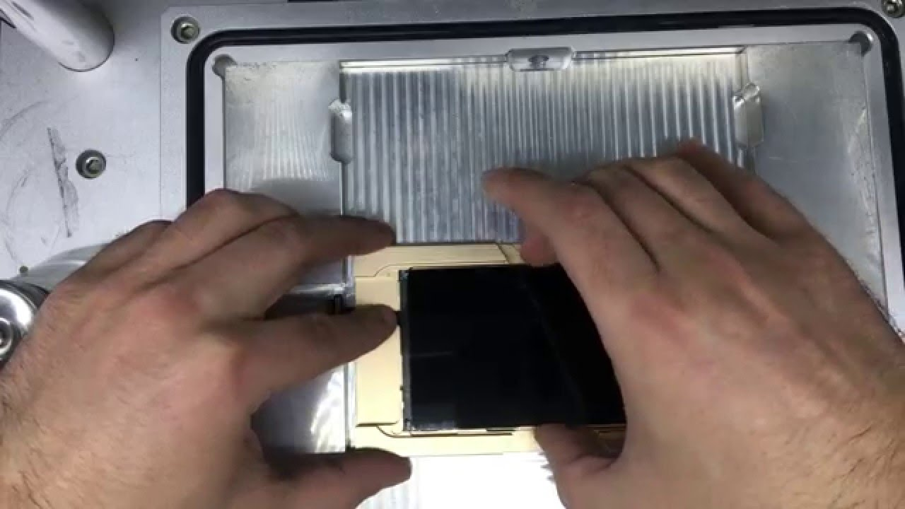 iPhone 6 lcd refurbishing with new cold press frames - YouTube
