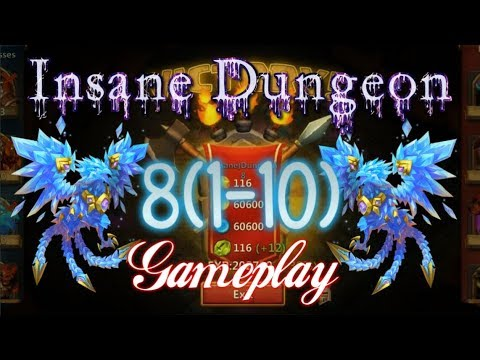 Insane Dungeon 8(1-10)8-10 3Flame Gameplay & Setups - Castle Clash
