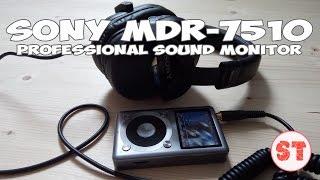 SONY MDR-7510 новое поколение студийной звукозаписи, распаковка