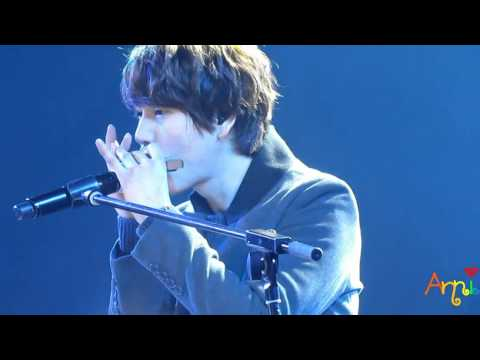 [HQ close fancam] 120314 SS4 Shanghai - Kyuhyun solo (keyboard prob + 听海 + Isn't She Lovely)