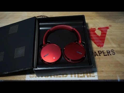 Unboxing Sony Wireless Extra Bass Headset MDR-XB950BT