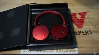 unboxing sony wireless extra bass headset mdr xb950bt
