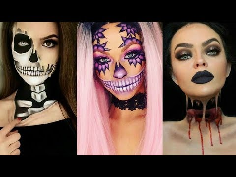 Halloween Ideas 2019 Makeup.Increibles Maquillajes Para Halloween 2019 Easy Halloween Make Up 2019