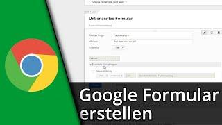 Google Formular Tutorial | Formular erstellen & auswerten / 2016 [Deutsch/HD]