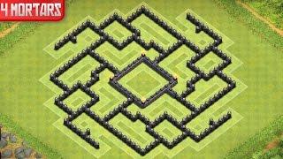 Clash of Clans - Town Hall 9 Farming Base (Polis 2) 4 Mortar - Speed Build