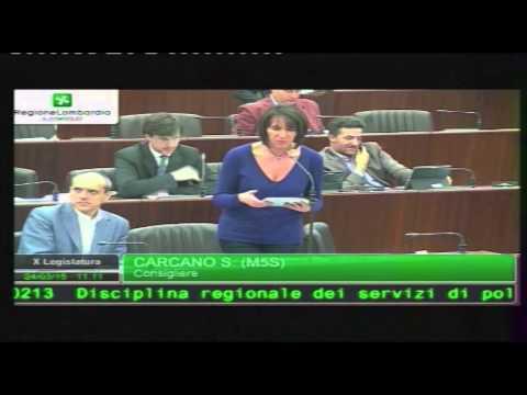 video Polizia locale - Silvana Carcano in Consiglio Regionale (24/03/2015)