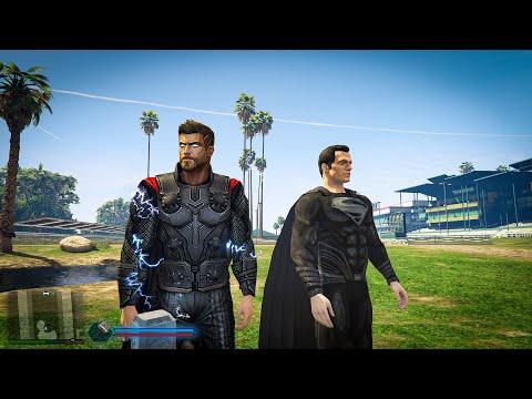 Thor vs Black Superman GTA 5 Cocobibu