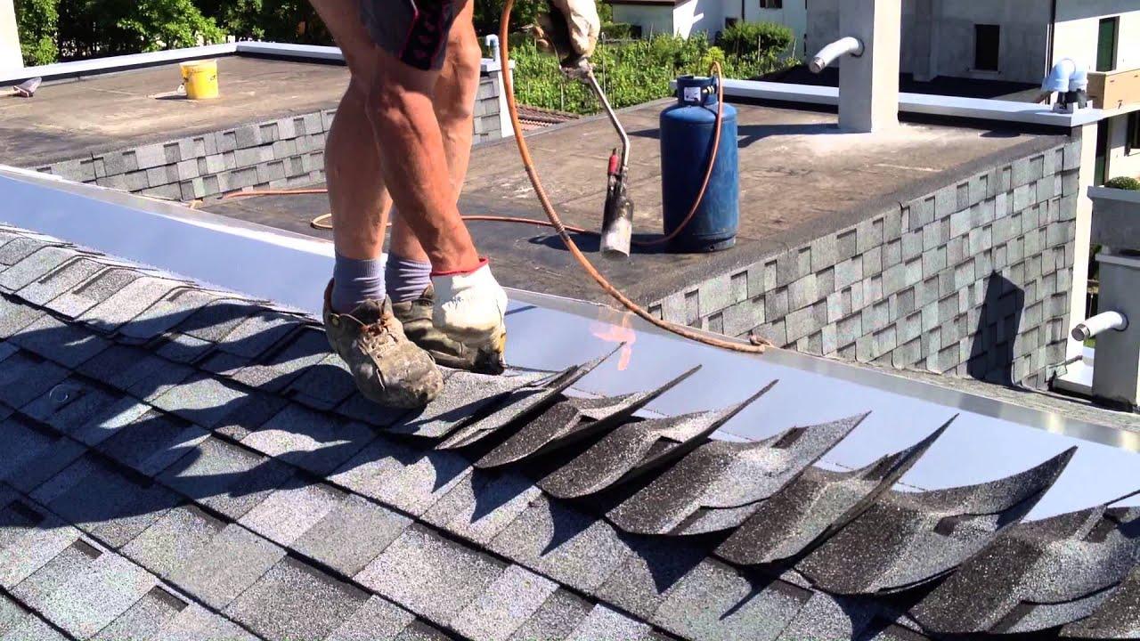 Imperemabilizzazioni su tetto di tegole canadesi youtube for Tipi di tetto