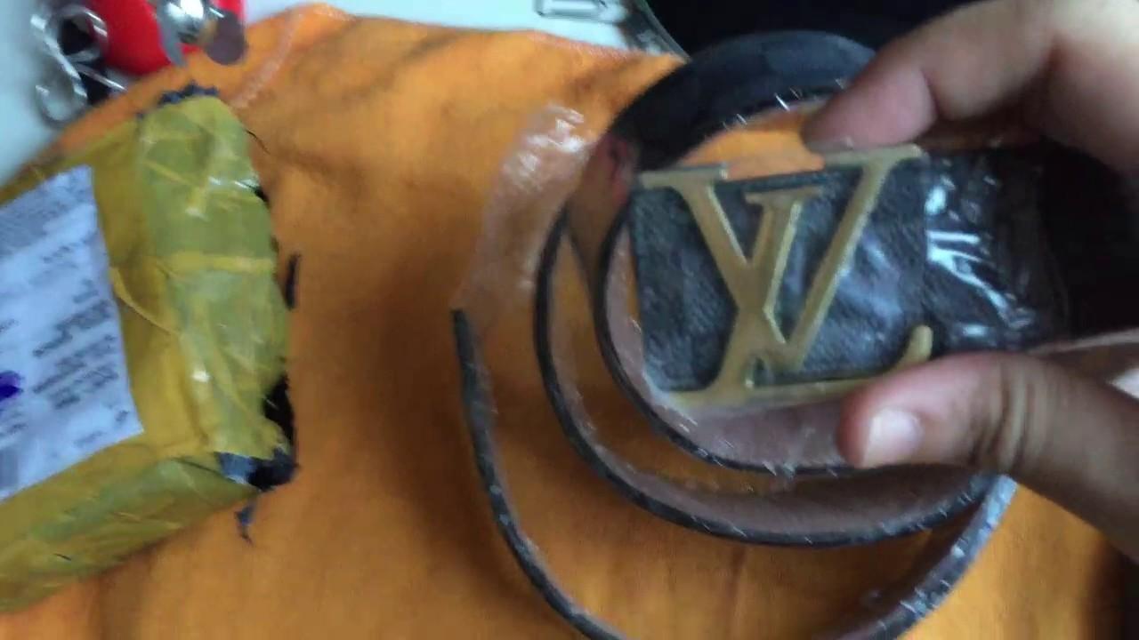 belleza diseño atemporal zapatillas de skate Unboxing #2 Cinto LV masculino luxo. Detalhes - Concorrente Aliexpress