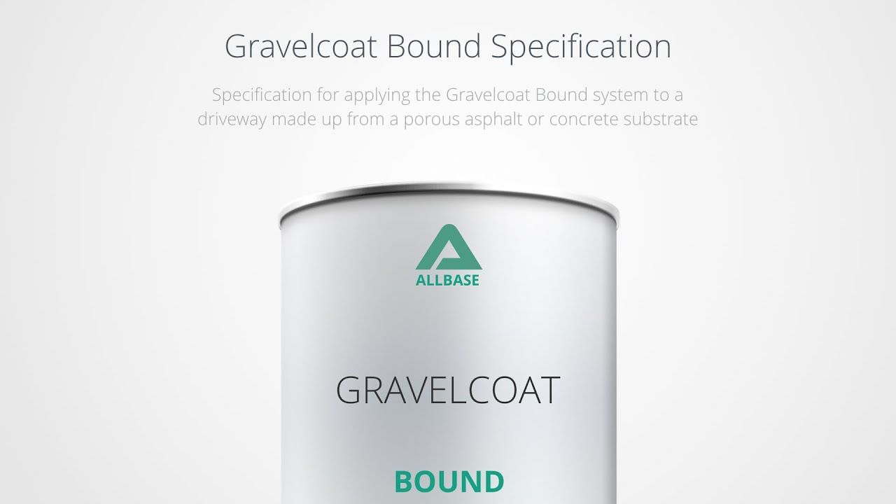 Gravelcoat Resin Bound System Specifications [Driveways - Permeable  Substrate]