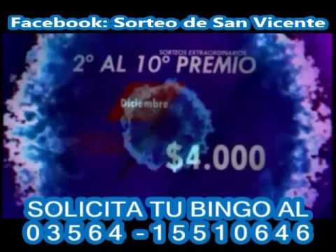 Bingo san vicente 2018 premios