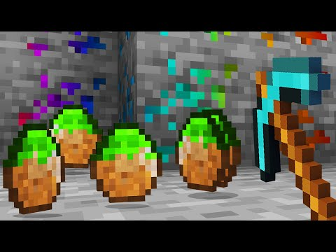 Minecraft but there's MORE Custom Diamonds