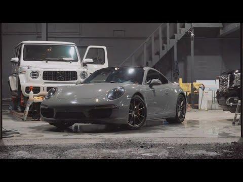 Silver Porsche going Nardo Grey.
