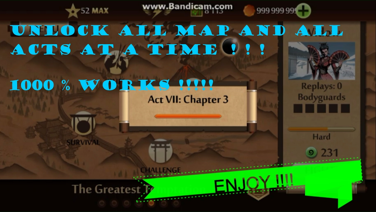 Shadow fight 2 hack 1. 9. 7 all weapons hack + all level cleared +.
