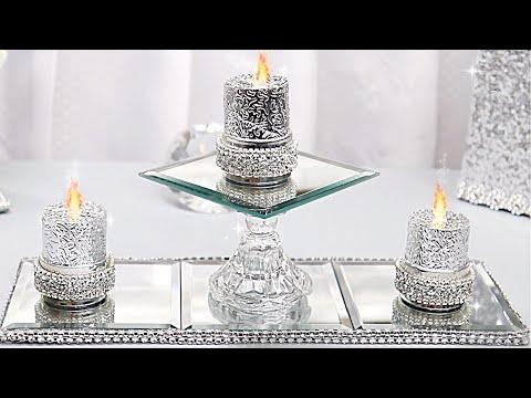 DIY Tired Mirror Candle Display Room Decor DIY Room Decorating Ideas DIY