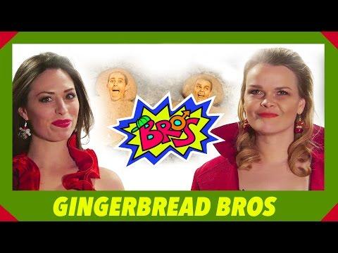 Hot Chicks Dress Up Like Bros For Christmas  Gingerbread Bros