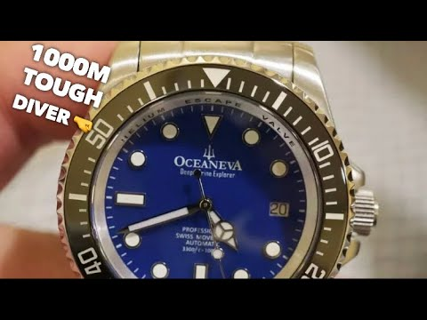 Oceaneva 1000M Dive Watch Review - Best Rolex Deepsea Homage?