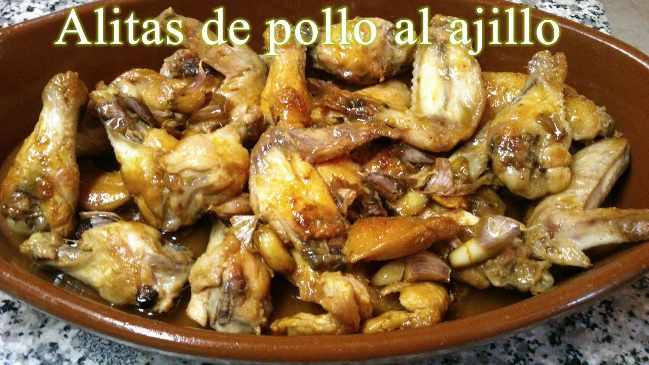 Como Cocinar Alitas De Pollo Al Horno | Receta Facil Y Rapida De Alitas De Pollo Al Ajillo Youtube