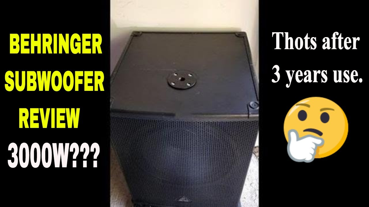 behringer eurolive b1800xp active 18 inch subwoofer review 3000w youtube. Black Bedroom Furniture Sets. Home Design Ideas