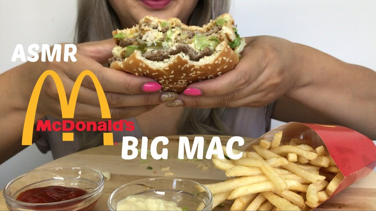 ASMR [McDonald's BIG MAC] No Talking | Eating Sounds N.E LetsEat