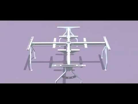 3D Montageanleitung 2 - 3D Assembly Instruction Office Furniture