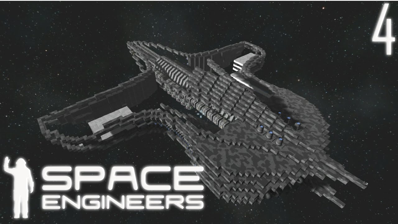 space engineers how to build a ship in space
