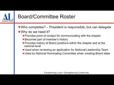 2018 05 01 10 58 Chapter Board Committee Rosters