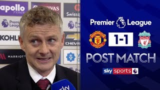 Solskjaer Heaps Praise On Rashford  Man United 1-1 Liverpool  Post Match Interview