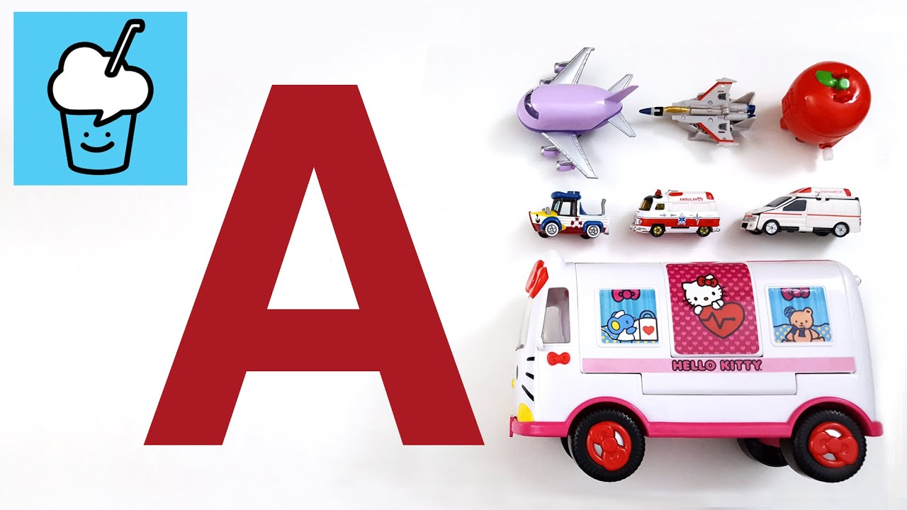 learning vehicles starting with letter a with tomica voov hello kitty youtube. Black Bedroom Furniture Sets. Home Design Ideas