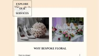 Professional Floral Website Example